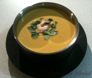 Domestic Diva - Thai Pumpkin & Prawn Soup