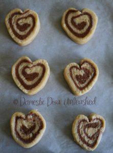 Domestic Diva - Pinwheel Cookies Heart Shaped