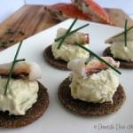 Crab Dip Canapés with Quinoa Tostadas