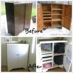 Domestic Diva - School Bag Cupboard Makeover - Before & After