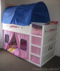 Domestic Diva: Princess Ikea Kura Bed Makeover