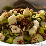 Domestic Diva: Pear & Red Quinoa Salad with Maple Dressing
