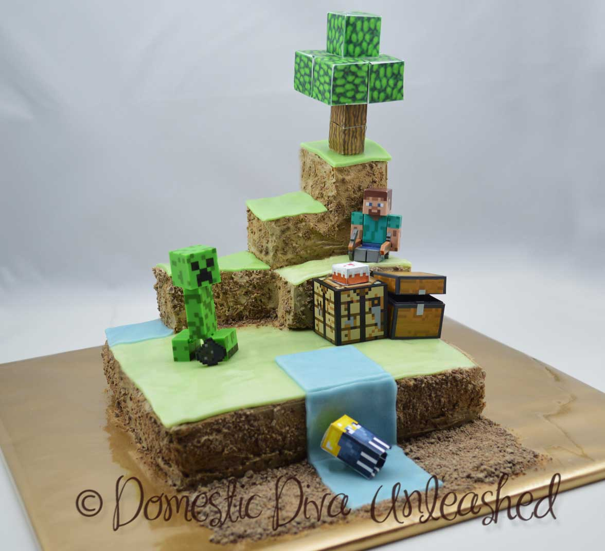 Minecraft Cake Domestic Diva Unleashed