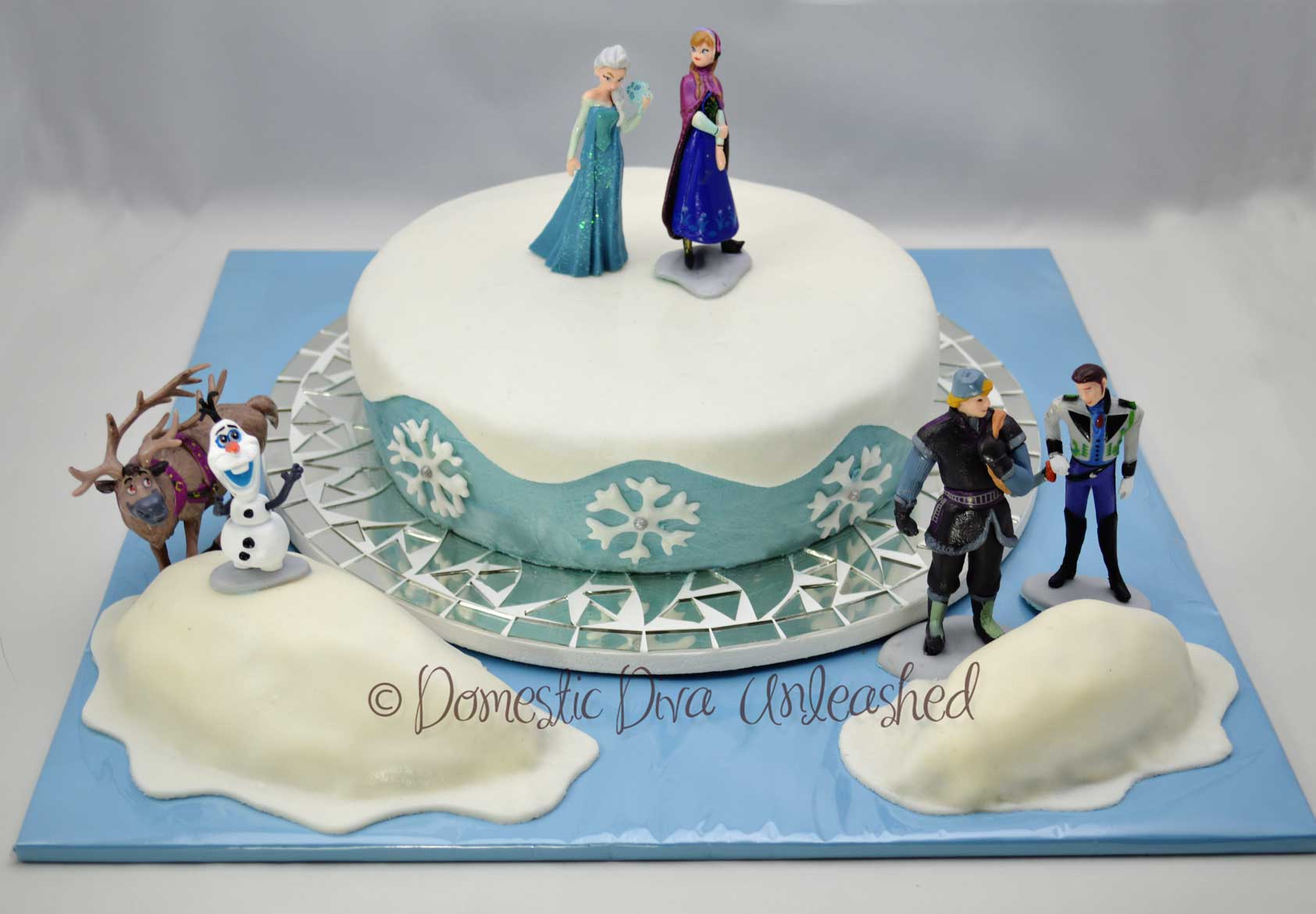 Frozen Birthday Cake Domestic Diva Unleashed