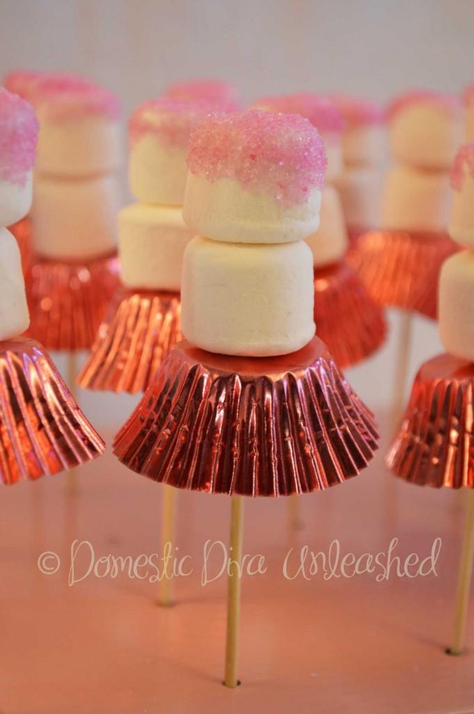 A Ballerina Cake And Marshmallow Treats Domestic Diva