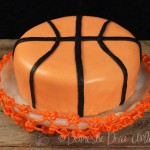 Domestic Diva - Basketball cake with net