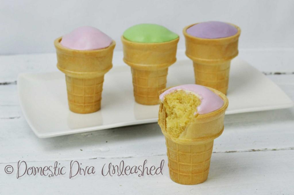 Domestic Diva: Ice-Cream Theme Cup Cakes