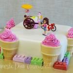 Domestic Diva - Lego Friends Cake - Ice-cream Theme