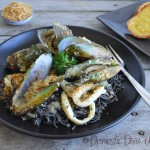 Domestic Diva: Mussels & Calamari with Black Bean Spaghetti