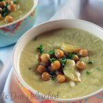 Domestic Diva - Veggie Soup with Roasted Garlic & Chickpeas