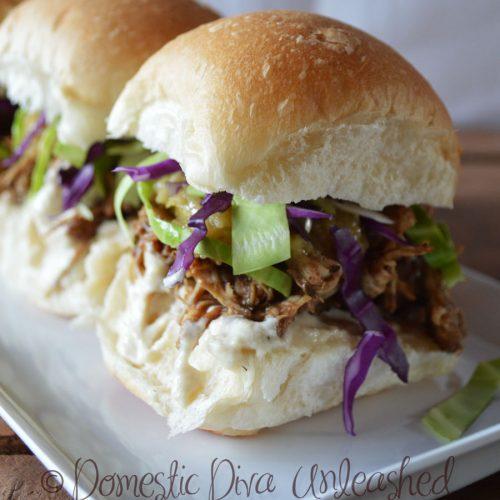 Pulled Chicken Slider---Domestic Diva